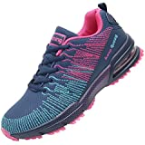 MEHOTO Womens Lightweight Athletic Running Shoes Breathable Fashion Sport Air Fitness Gym Jogging Sneakers Darkblue&Fuchsia 9 B(M) US