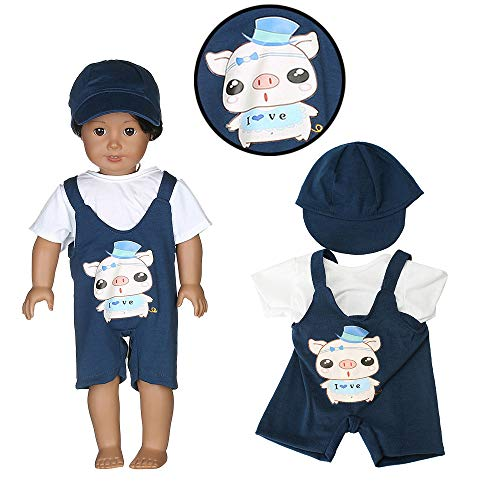 Denzar Alive Baby Doll Clothes Girl, Bib Pants Set Compatible with United States Girls Doll Clothes, 18 Inch Baby Doll Handmade Lovely Clothes Outfits Costumes Dolly Pretty Doll Clothes,Prefect for Ta ()