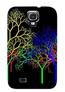 Awesome Case Cover/galaxy S4 Defender Case Cover(Abstract Trippy Trees Tree) Gift For Christmas