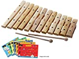 D\'Luca 12 Notes Wood Xylophone with Music Cards