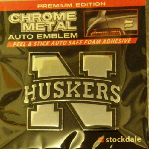 Nebraska Cornhuskers Chrome Auto - Nebraska Cornhuskers Huskers SD Ultra Premium Metal Chrome Car Auto Emblem University of