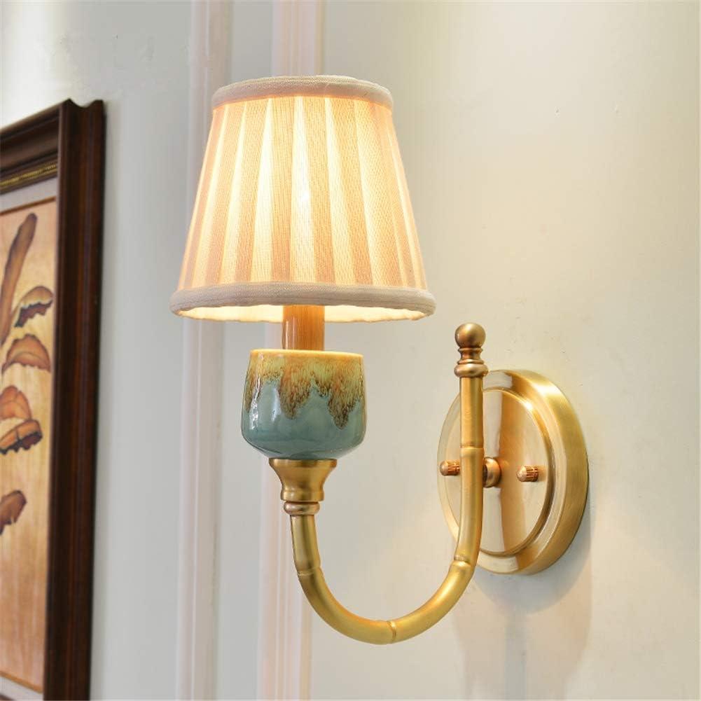 Wall Lights Indoor Simple Single Head E25 Bedside Lighting Pleated