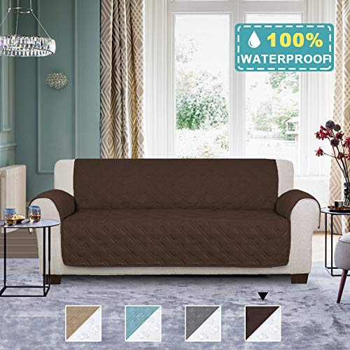 100% Waterproof Thick & Durable Oversized Sofa Cover for Living Room Non Slip Furniture Protector Water Resistant Micro Fabric Pet Cover Slipcovers (Seat Width: 78