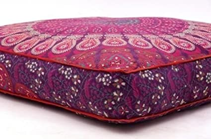 Cuadrado puf infantil con diseño suelo fundas de almohada de ...