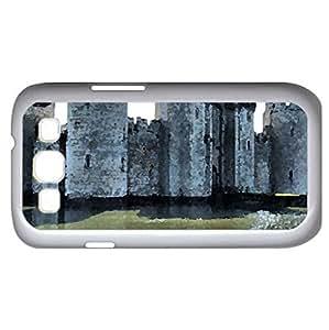 stone castle - Watercolor style - Case Cover For Samsung Galaxy S3 i9300 (White)