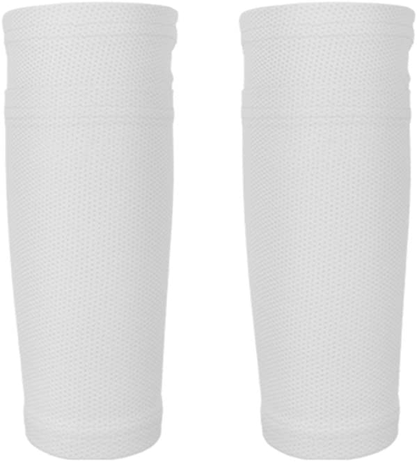 Calcetines protectores de fútbol con bolsillos para espinilleras de Leezo, ideales para correr, hacer ciclismo, fútbol, rugby, fitness, gimnasio, golf, tenis, 1 par