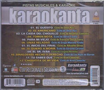 Karaokanta KAR-9002 -- Top Regional y Sierreño 2