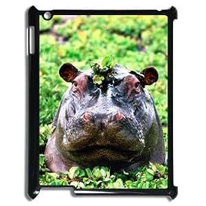 LZHCASE Diy Cover Custom Case Hippo For IPad 2,3,4 [Pattern-1]