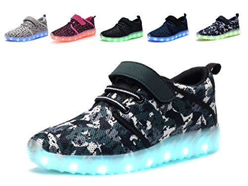 580b368f862 Denater Breathable LED Light Up Shoes With Remote Flashing Sneakers for Kids  Boys Girls (26/9M US Toddler, M-green) - Buy Online in Oman.