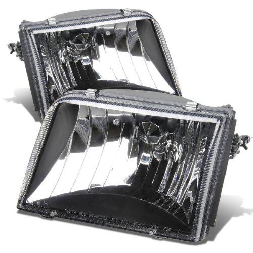 Ford Ranger Replacement Headlight Amber Reflector Lamp Cover Kit (Black Housing)