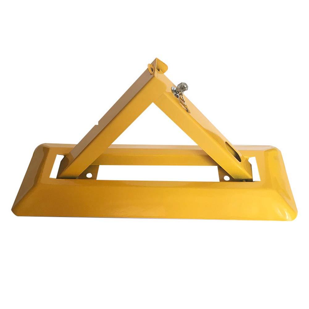 JIEH Barreras para Parking Bolardos Triangulares Met/álicos Plegables De Alta Resistencia for Estacionamiento Seguro Parking