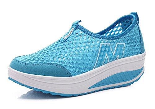 Scarpe Da Donna Antiscivolo Traspirante In Mesh, Scarpe Da Ginnastica Fitness Da Allenamento Sneaker Blu