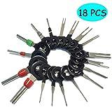 Kalolary Terminals Removal Key Tool Set | Car Plug Circuit Board Pin Extractor Kit Supplies Terminals Removal Key Connector Puller Release Pin Tools(18 PCS)…