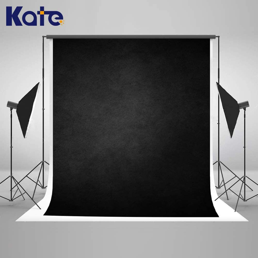 Kate 5×7ft Black Abstract Photography Backdrop Portrait Photography Backdrops Black Gray Photography Background Props for Studio(A Little Deep Green)