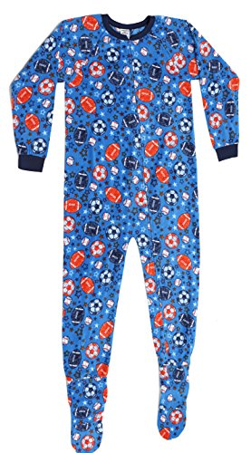 95598-5-10/12 Prince of Sleep Footed Pajamas / Micro Fleece Blanket Sleepers Balls Boys' 10-12