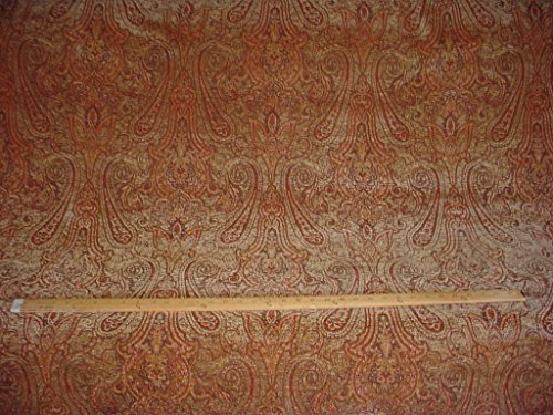 266H3 - Plush Sienna / Canyon Floral Paisley Chenille To the Trade Decorative Upholstery Drapery Fabric - By the Yard - Paisley Chenille Tapestry Fabric
