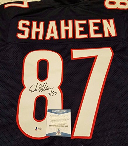 ADAM SHAHEEN #87 AUTOGRAPHED BLUE JERSEY (BECKETT WITNESSED & AUTHENTICATED)