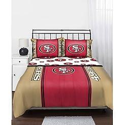 NFL San Francisco 49ers Bedding Set, Ful...