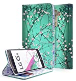 NageBee Flip PU Leather Fold Wallet Pouch Case For LG G4 - Plum Blossom
