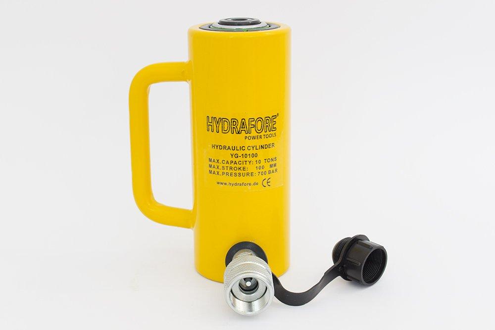 10 tons 4 stroke Single Acting Hydraulic Cylinder Lifting Jack Ram YG-10100
