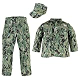 Trendy Apparel Shop Kid's US Soldier Digital Camouflage Uniform 3pc Set Costume Cap, Jacket, Pants - NWU III - XS
