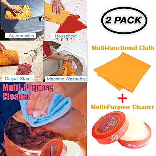 (Little Story  Bait Hard, Natural Multi-Purpose Cleaner Brilliaire Polisher +1PC Cleaning Rag Combination (C))