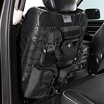 Jeep Wrangler Seat Covers Waterproof >> Amazon.com: OneTigris Car Seat Back Organizer, Tactical MOLLE Vehicle Panel Car Seat Cover ...