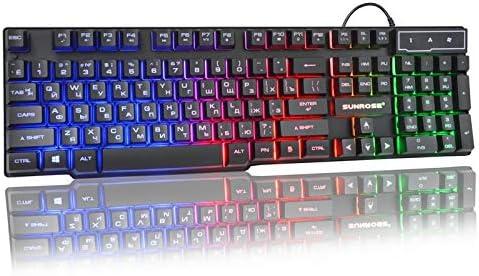 HUOGUOYIN Gaming Keyboard 3 Color Backlight Gaming Keyboard Floating Backlit USB Similar Mechanical Feel Keyboard Color : Mechanical Keyboard