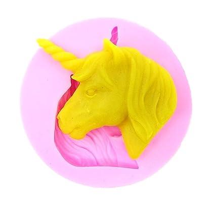 Dulce Forma del unicornio Silicona / Acero inoxidable Moldes Moldes Para Pasteles de Chocolate Pastelitos Galletas