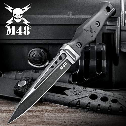 """United Cutlery M48 Sgian TPR Plain with Sheath, Black, 9.5"""""""