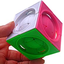 CuberSpeed FangShi LimCube Deformed 3x3 centrosphere Stickerless limCube Deformed 3x3x3 Centrosphere Cube Puzzle Colored