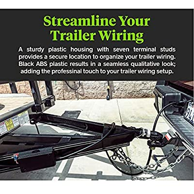wadoy Trailer Wiring Junction Box 7 Way Trailer Wire Connectors for RV Camper Vehicle Car: Automotive