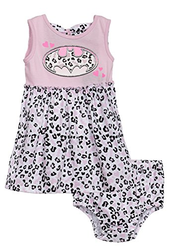 [(642421R) Batman Baby Girls Fashion Tunic and Legging Set in Pink Size: Newborn] (Baby Batgirl Outfit)