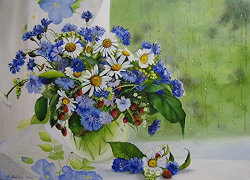 LB DIY Oil Painting , Paint By Number Kits For Kids & Adults -Flowers Bonsai ,Great Mother's Day Gift 16''X20''.