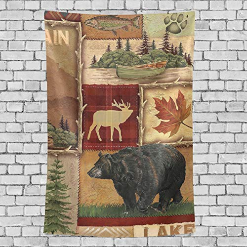 TSWINW Lodge Style Northwoods Cabin Wall Tapestry Wall Hanging Tapestry Nature Home Decorations Blanket for Living Room Bedroom Dorm Wall Decor Art Tapestry Bedspread