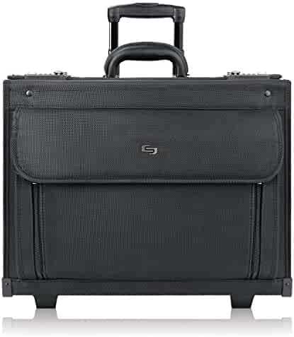 Solo Classic 17.3 Inch Rolling Catalog Case, Black