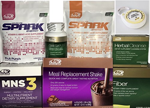 - Advocare 24 Day Challenge, Chocolate Meal Replacement + Bonus.MNS3, Fruit & Mandrain Orange Spark
