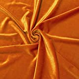 orange sewing fabric - Stretch Velvet Fabric 60'' Wide by the Yard for Sewing Apparel Costumes Craft (1 YARD, Orange)