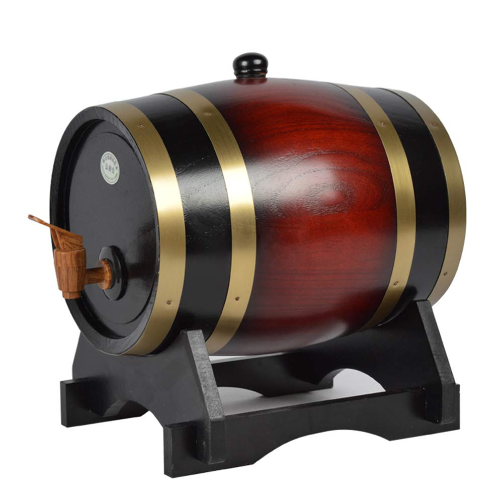 Whiskey Barrel Wood Aged Barrel For Wine, Spirits, Beer, And Liquor With Wine Seat (3L)
