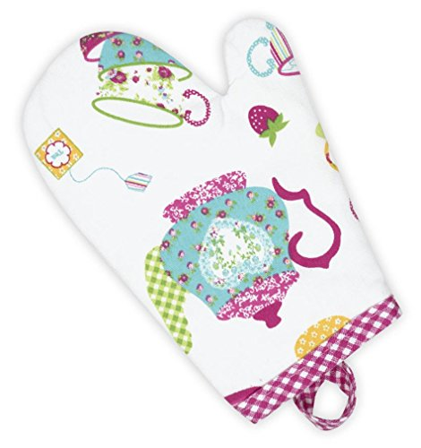 Handstand Kitchen Child's 100% Cotton Shell 'Spring Tea Party' Oven Mitt