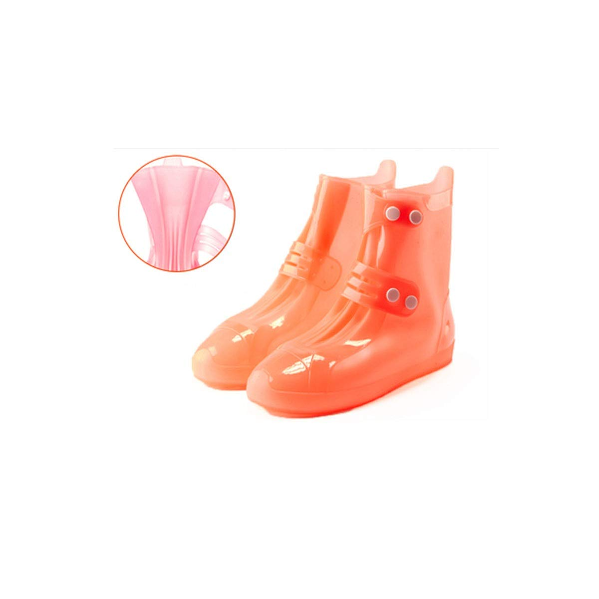 WUHUIZHENJINGXIAOBU Rainproof Shoe Cover, High-tube Outer Rubber Outdoor Motorcycle Raining Men And Women Non-slip Foot Cover, A Variety Of Colors Available Shoe covers that can be worn on rainy days, by WUHUIZHENJINGXIAOBU