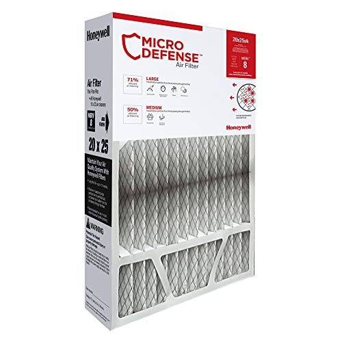 House High Efficiency Furnace Filter - Honeywell Home 4-Inch High Efficiency Air Cleaner Filter, MERV 8 Rating, (CF100A1025)