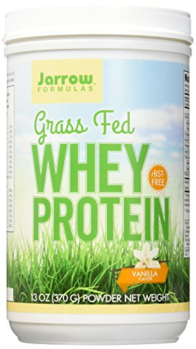Jarrow Formulas Whey Protein Grass Fed, Sports Nutrition, Vanilla, 370 g