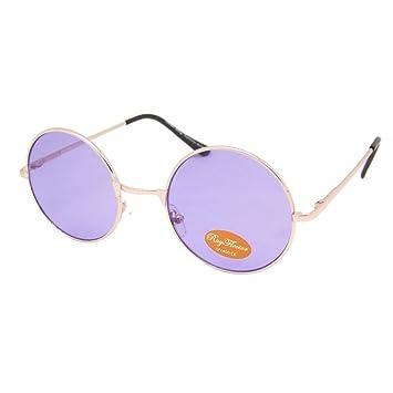 Lunettes de soleil Chic-Net unisexe lunettes rondes hippie John Lennon teinté 400UV noir violet CgouY8y