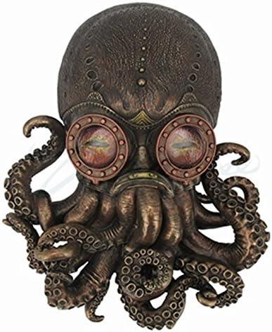 Steampunk Octopus Wall Plaque Sculpture,Bronze