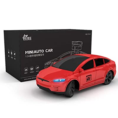 Kikioo Tesslaa Car 1/24 Scale Wireless Remote Control Racing Drift 360°Rotation Stunt High Speed Drifting Vehicle 2.4Ghz Climbing Wall Charging Toy Wireless Children's Toy Boy ( Color : Red): Toys & Games