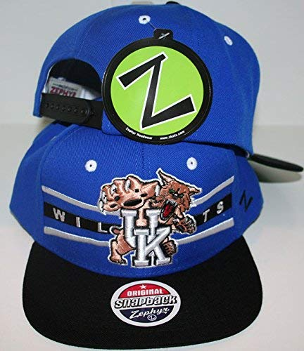 check out 6bcea 8fd37 Image Unavailable. Image not available for. Color  ZHATS University of Kentucky  UK Wildcats Blue Top Front Runner Mens Boys Flatbill Snapback Hat