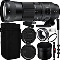 Sigma 150-600mm f/5-6.3 DG OS HSM Contemporary Lens for Canon EF + Sigma MC-11 Adapter Bundle