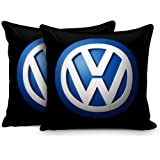 Sleep nature's Imported Fabric car Cushion Set with Black Piping Size,12x12 Cream