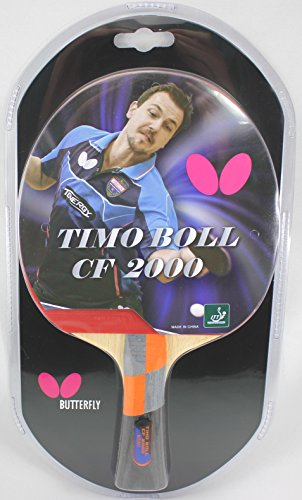 Butterfly Timo Boll Carbon Fiber Ping Pong Paddle | ITTF Approved Table Tennis Racket | Ping Pong Sponge and Rubber | Carbon Layers in Ping Pong Racket for Power | Professional Ping Pong Paddle